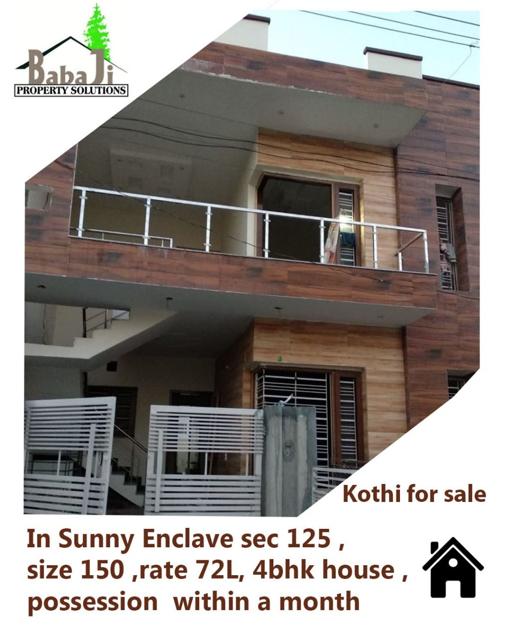 Kothi For Sale In Sunny Enclave Sector 125 Size 150 Sq Yd 4bhk