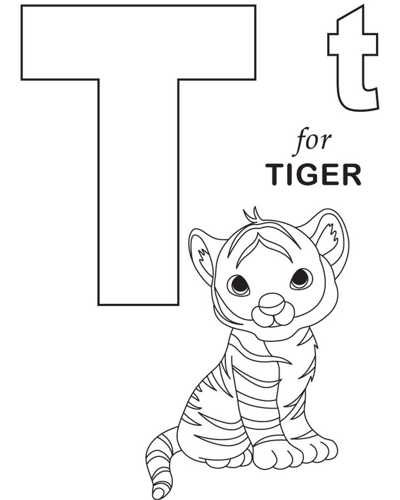 Great Image Of Letter T Coloring Page Alphabet Coloring Pages