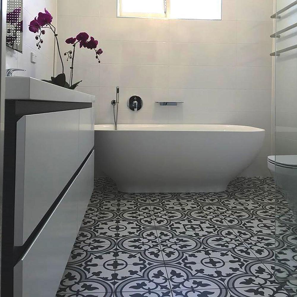 Porcelain Bathroom Floor Tiles: Merola Tile Arte Grey 9-3/4 In. X 9-3/4 In. Porcelain