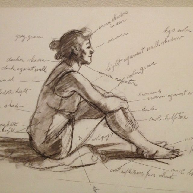 :: Edward Hopper's sketch for Morning Sun ::