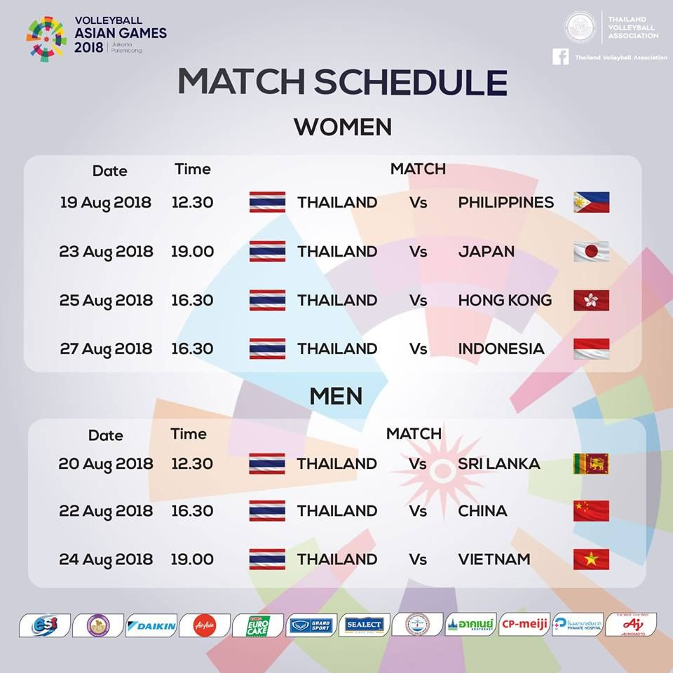 World Volleyball Is Under Construction Asian Games Volleyball Thailand