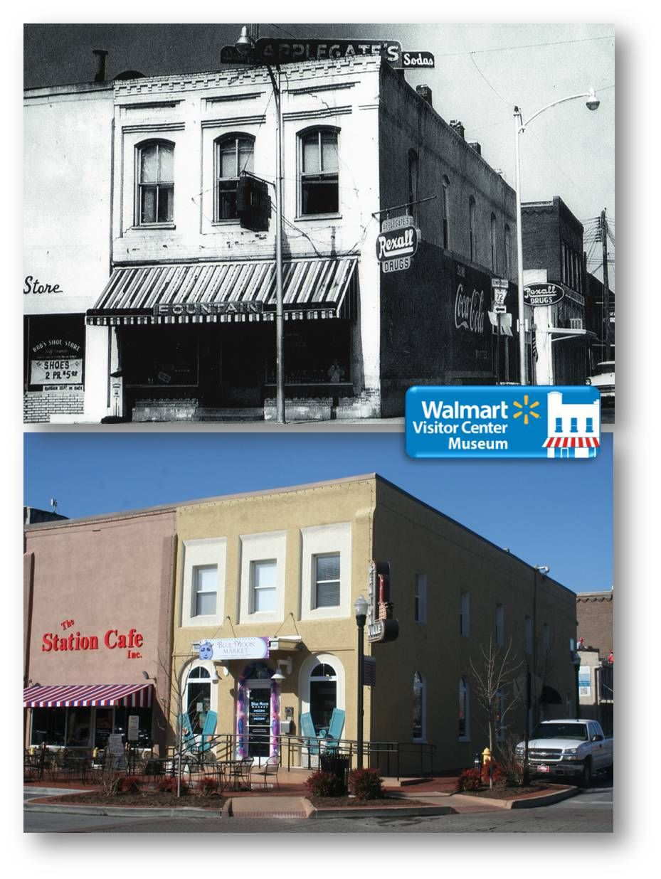 Walmart Then And Now Bentonville Square Bentonville Bentonville Arkansas Walmart