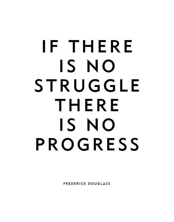 Motivational Quote Poster or Print No Struggle | Etsy