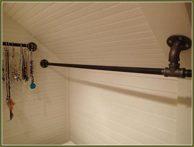 Elegant Sloped Ceiling Closet Rod Bracket 2
