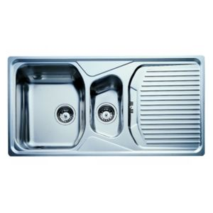Double Bowl Sink With Drainboard Teka Stainless Steel Double