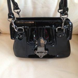 Tracy Reese Handbags Patent Leather Black Handbag