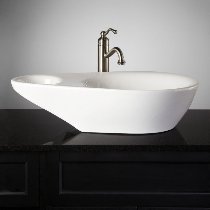 Valor Oval Porcelain Vessel Sink Vessel sink, Vessel sink bathroom - Vessel Sinks Bathroom