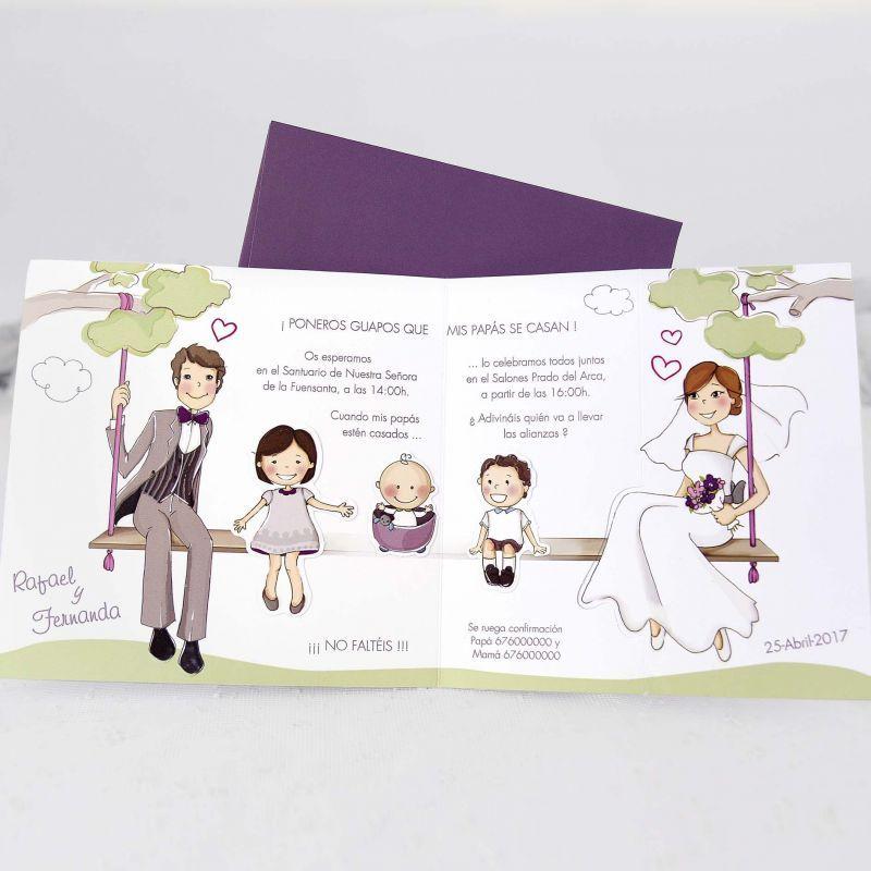 invitaciones de casamiento para novios con hijos  Buscar con