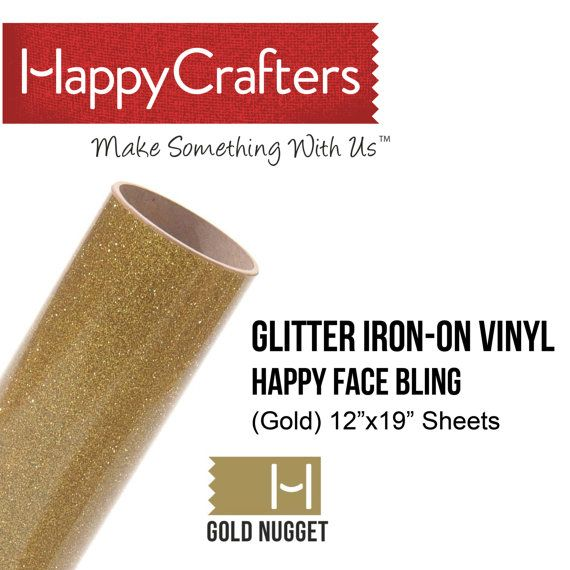 Iron On Glitter Vinyl Gold Nugget 12 X 19 By Happycrafterssupply 5 95 Iron On Glitter Vinyl Glitter Vinyl Vinyl