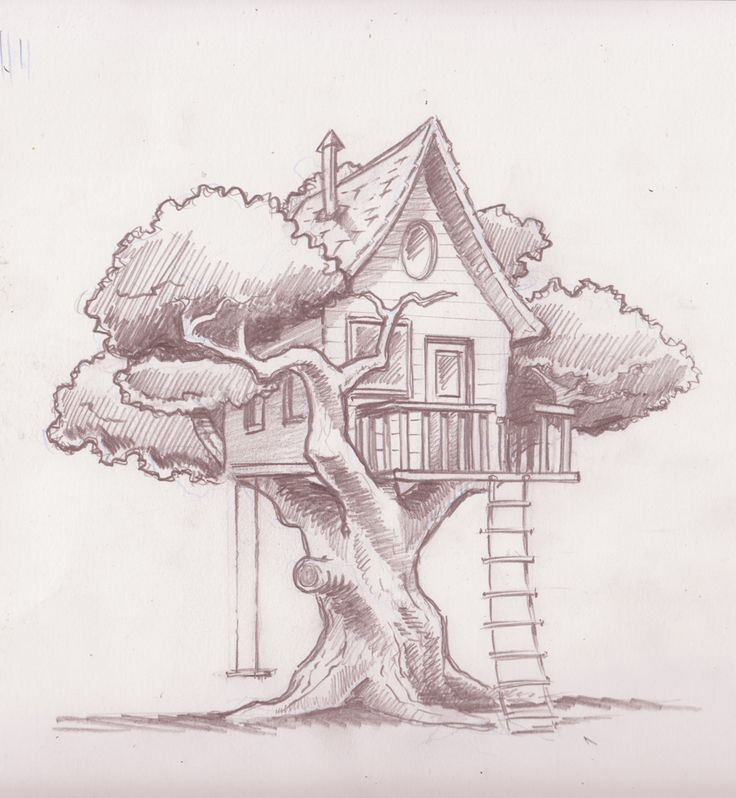 Treehouse Drawings Google Search Tree House Drawing Art