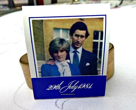 Royal Wedding 1981 Matchbook Matches Memorabilia Lady Diana Spencer Prince Charles 29th July