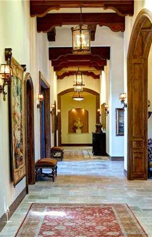 Beams Amp Hallway Gorgeous My Hacienda Tuscan House