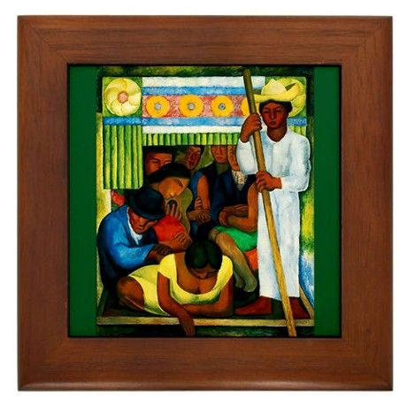 Diego Rivera Flower Canoe Art Framed Tile By Oshishop Cafepress Diego Rivera Diego Rivera Frida Kahlo Frida And Diego