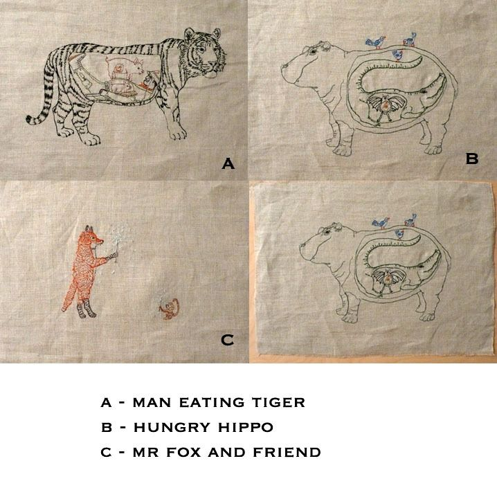 Embroidered Drawings by Coral and Tusk / KOSA