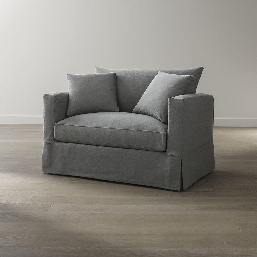 Willow Modern Slipcovered Twin Sleeper Sofa In 2019 Home