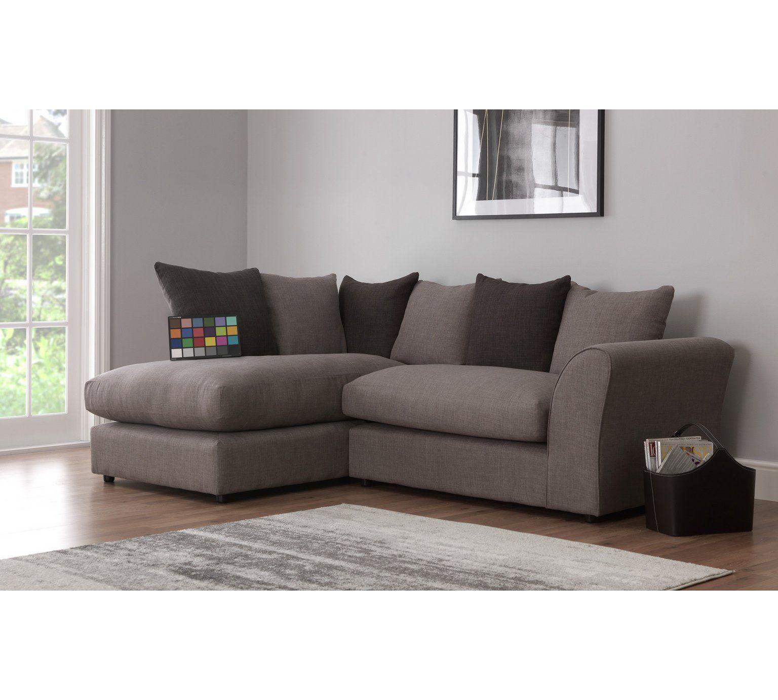 Buy HOME Maisie Regular Left Hand Corner Sofa   Grey At Argos.co.uk