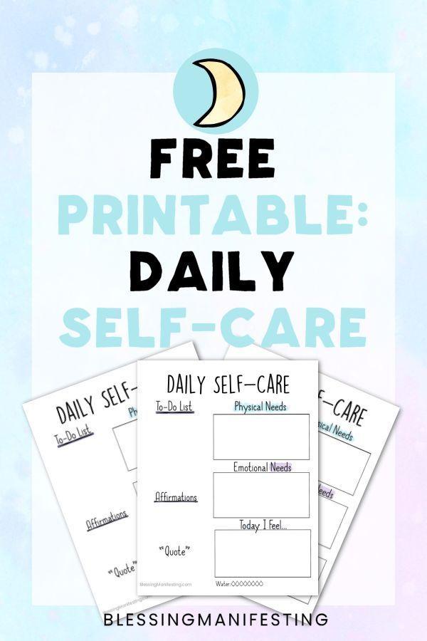 Printable: Daily Self-Care Worksheet   Self care ...