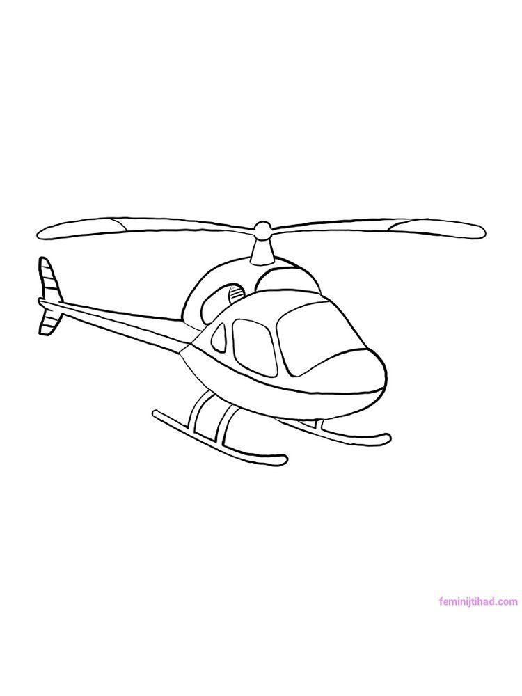 Printable Helicopter Coloring Pages For Kids Di 2020 Dengan Gambar