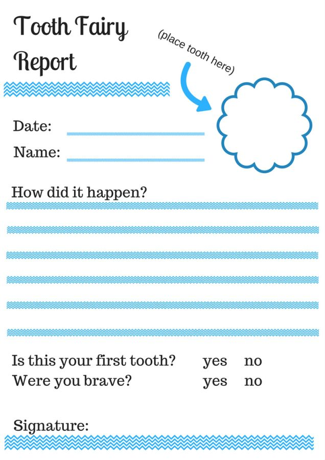 The Best For Our Family Fun Tooth Fairy Incident Report That
