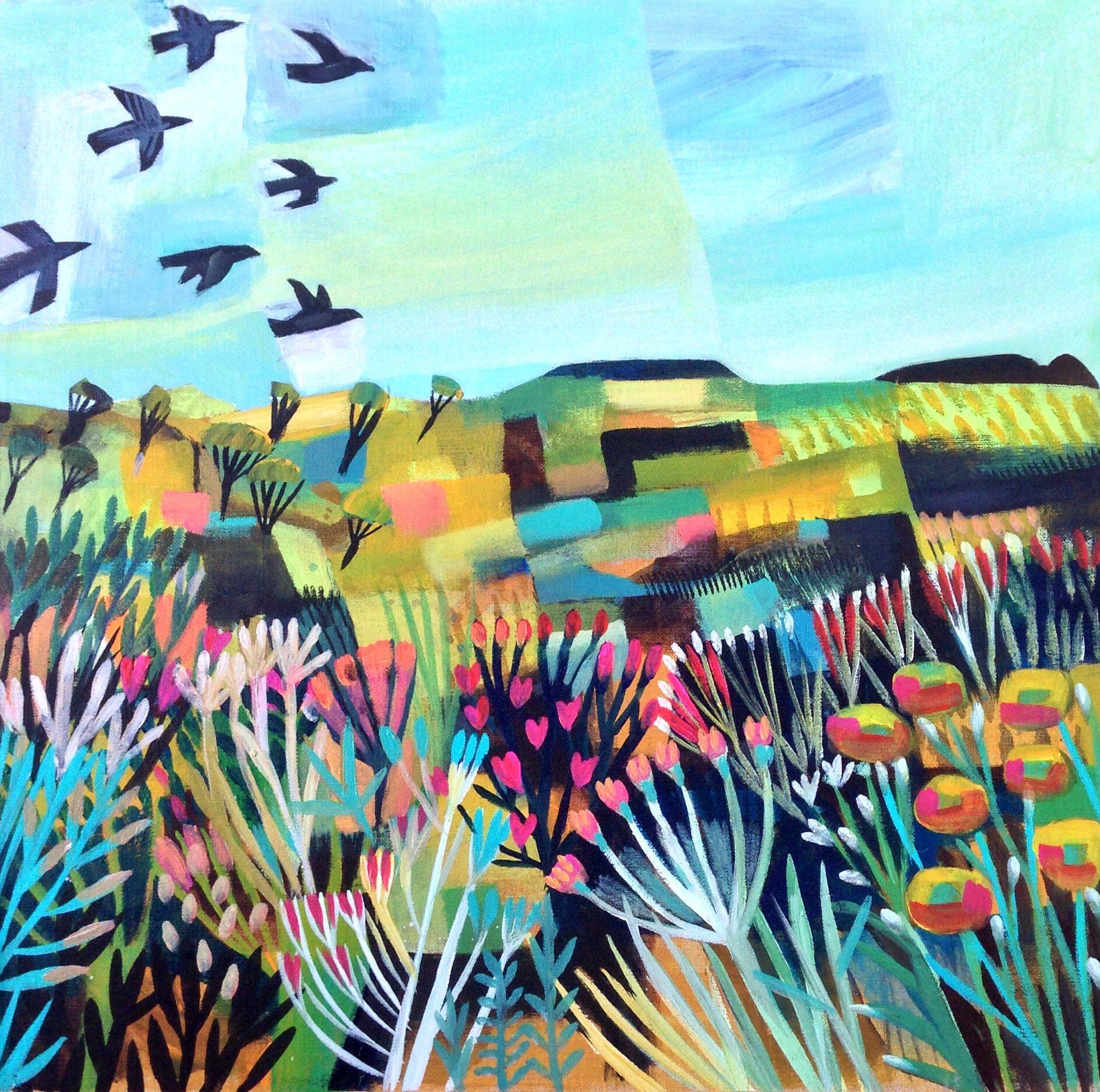 Free As A Bird Acrylic On Canvas 59x50cm Este Macleod Art Art Painting Whimsical Art