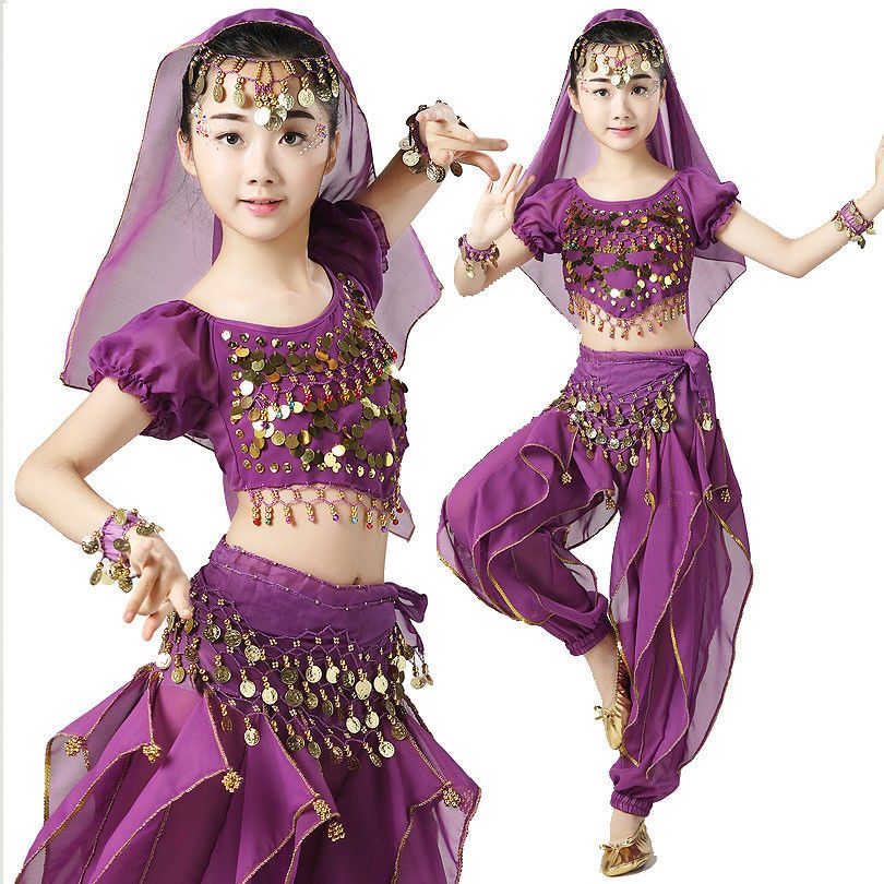 e05f4cbdc ChiIdren Belly Dance Costume Set Suit Girls Indian Dance Kids Performance  Purple #fashion #clothing #shoes #accessories #dancewear #adultdancewear  (ebay ...