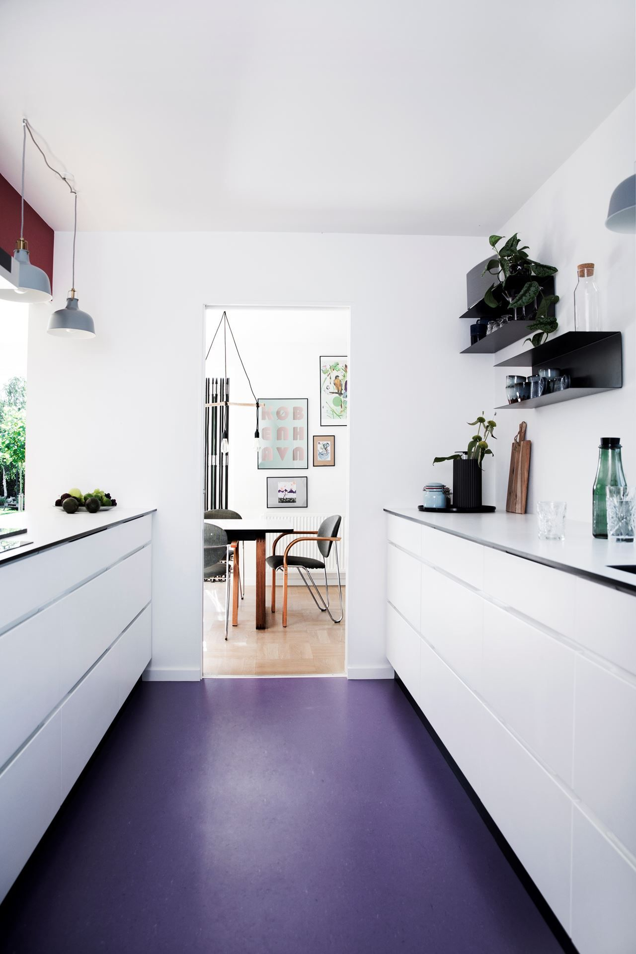 Fearless Family Home Embraces Colour Kitchen flooring