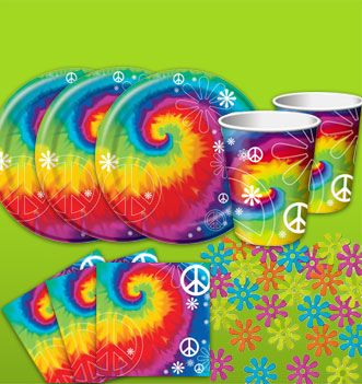 Captivating Dollar Store Hippie Plates, Cups, Napkins, Other Decorations Maybe Handmade?