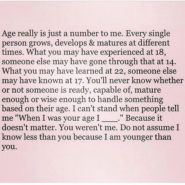 Age Is Just A Number Age Difference Quotes Real Life Quotes Life Quotes Deep