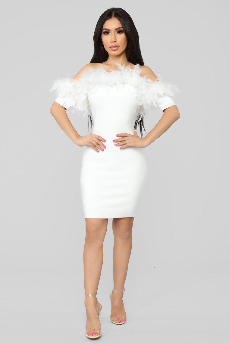 Feathers And Frills Mini Dress White Mini Dress Frill Mini Dress White Short Dress
