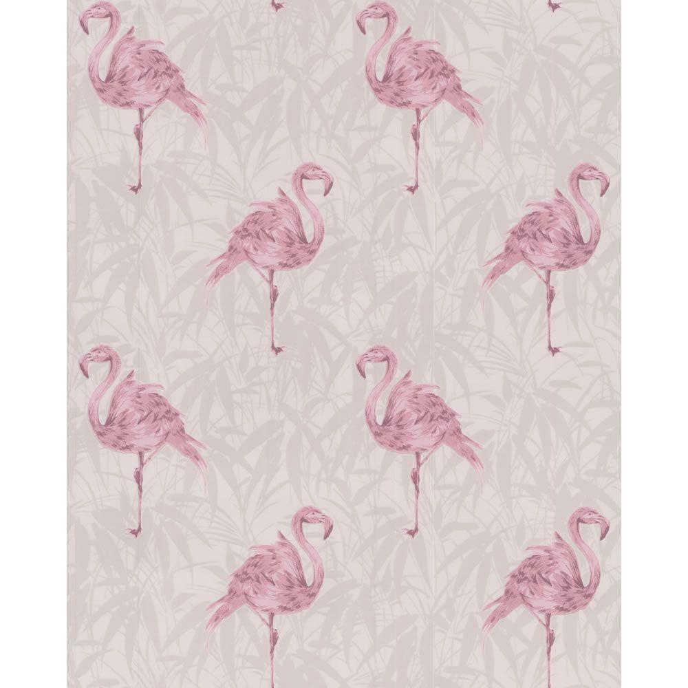 Contour Flamingo White Pink Wallpaper 20 281 Flamingo Wallpaper Pink Flamingo Wallpaper Bathroom Wallpaper