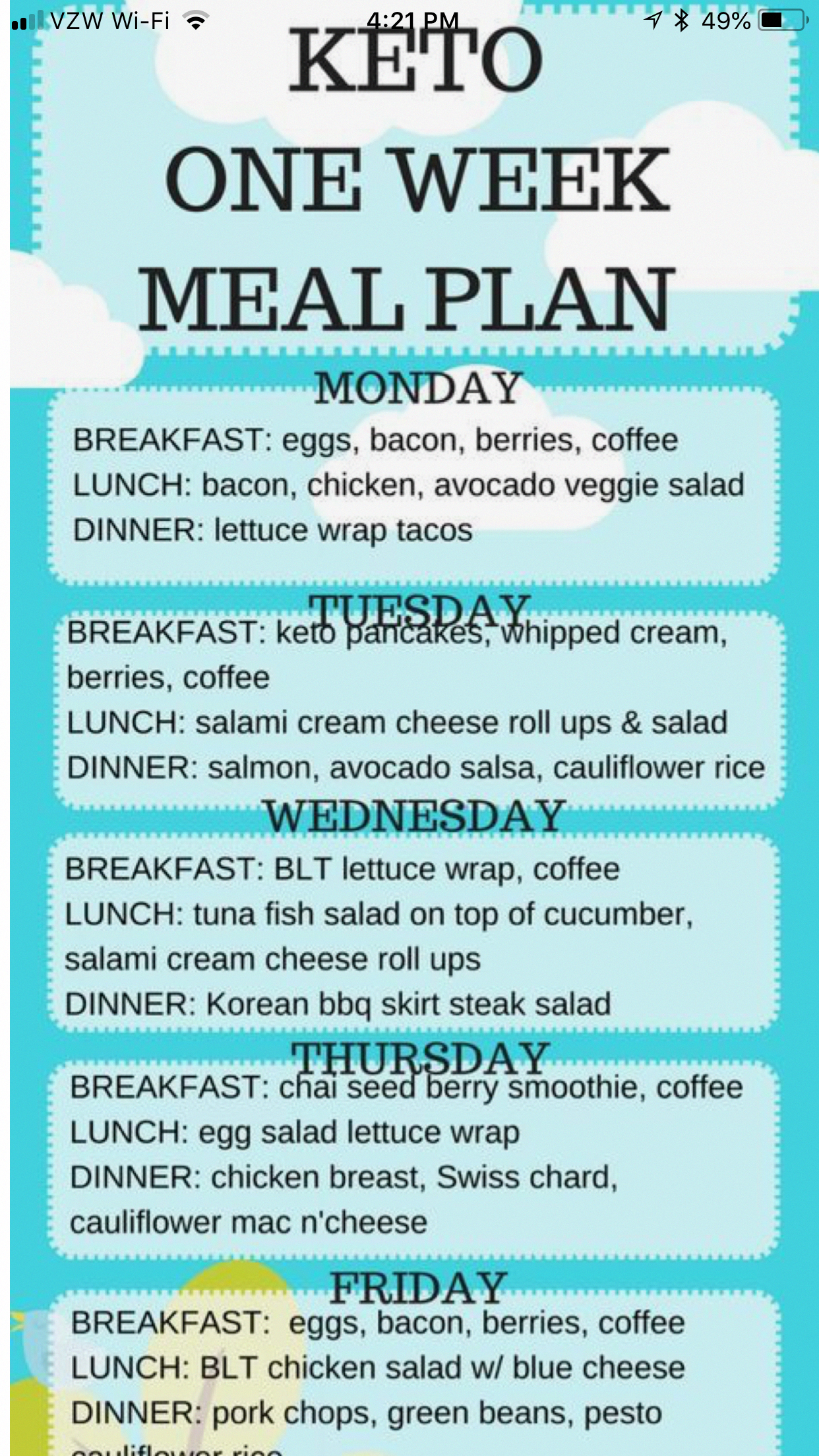 keto diet plan for busy life