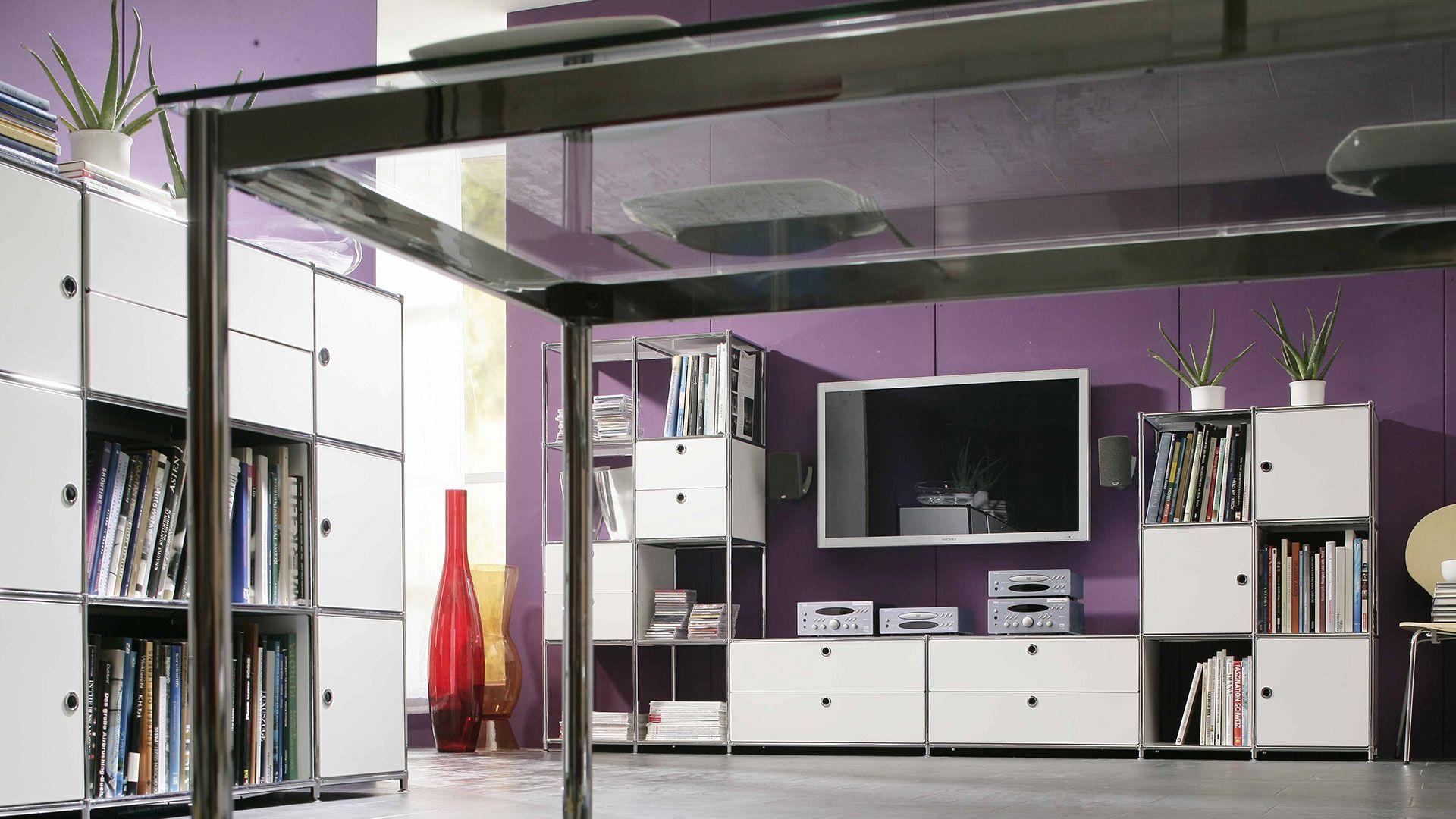wohnzimmer esszimmer perfekt möbliert mit sideboard und highboard