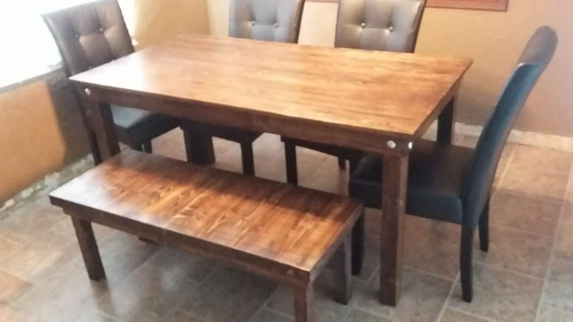 5x3 kitchen table with bench   Kitchen table bench, Bench table