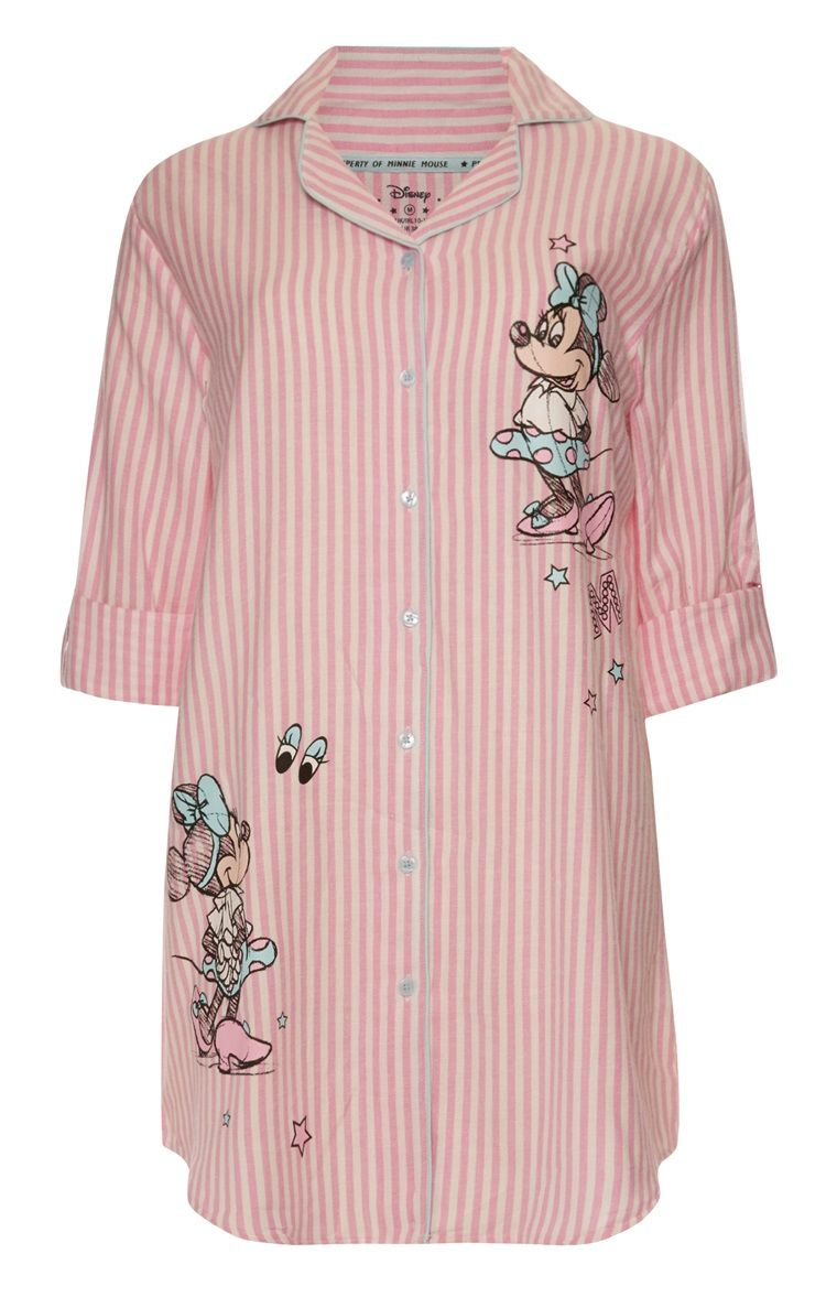 25ec672274 Primark - Pink Stripe Minnie Mouse Nightshirt £10