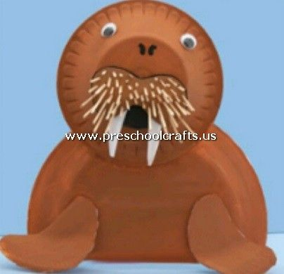 Monk Seal Craft From Paper Plate 404x390 Pixels