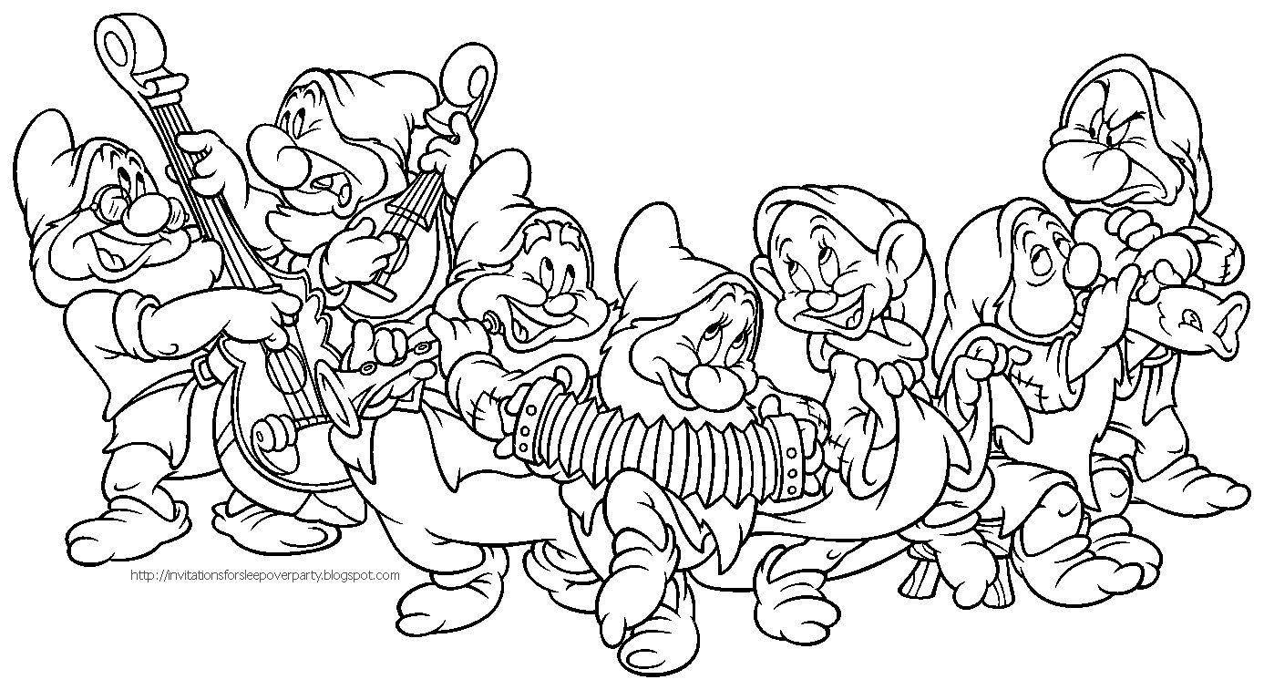 Snow White And The Seven Dwarfs Coloring Pages | Coloring Pages ...