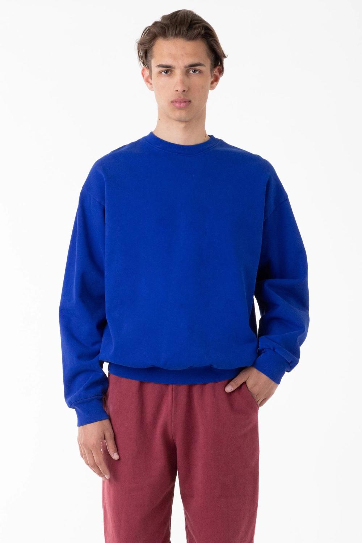 Hf07gd 14oz Garment Dye Heavy Fleece Pullover Crewneck Sweatshirt Crew Neck Sweatshirt Fleece Pullover Sweatshirts [ 1500 x 1000 Pixel ]