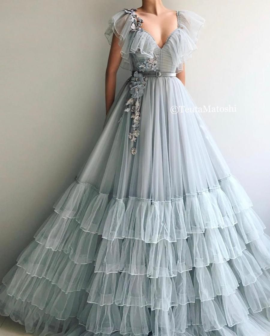 Blooming Argenta Gown