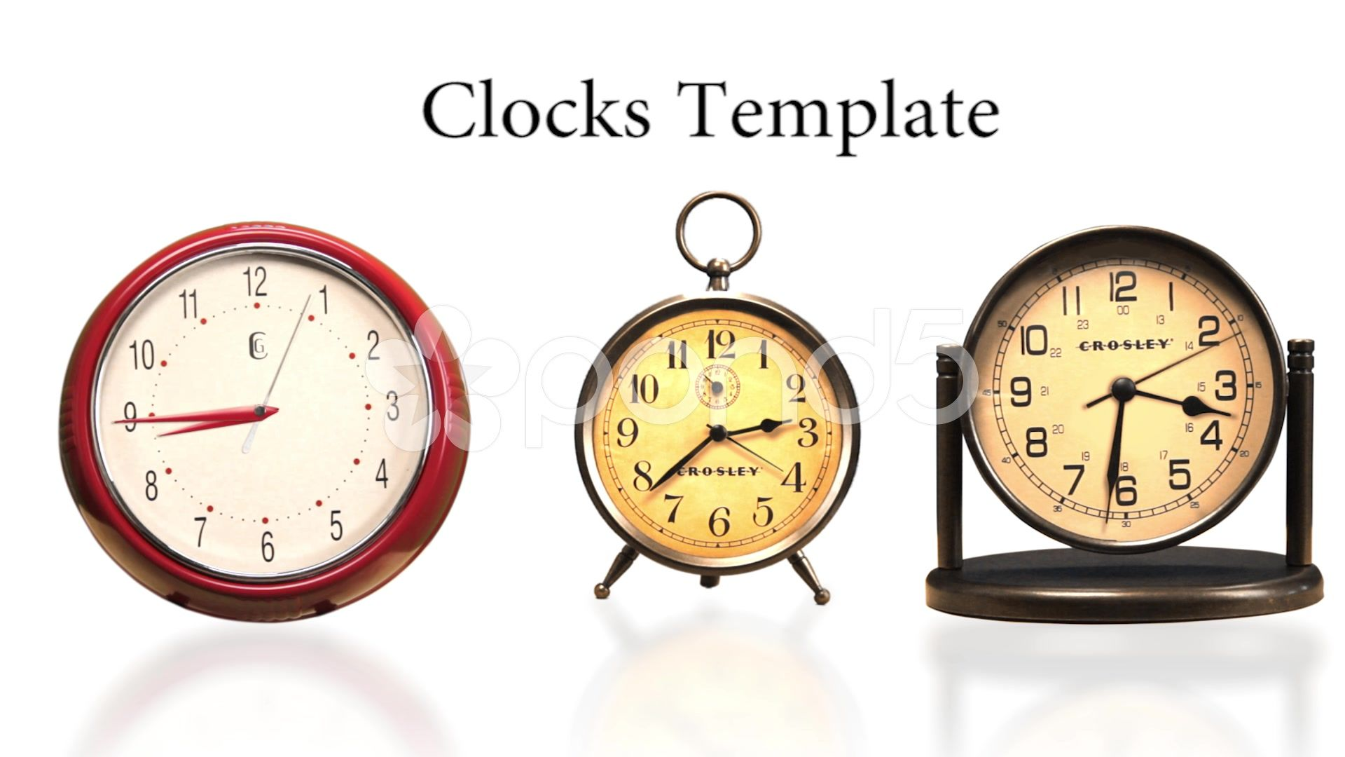 clock template stock after