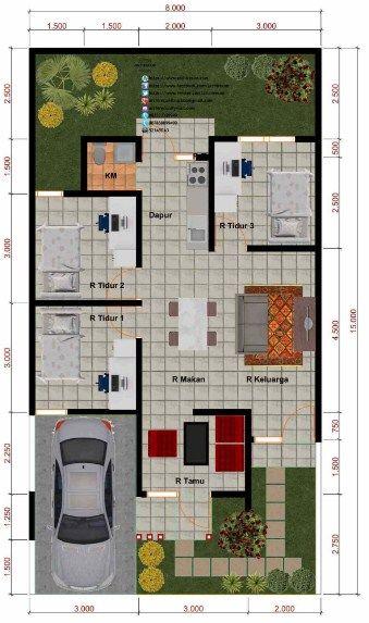 Pin Oleh Abjad Di Rumah Di 2020 Denah Rumah Desain Rumah House