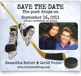 Save the Date Cards - Puck Drops