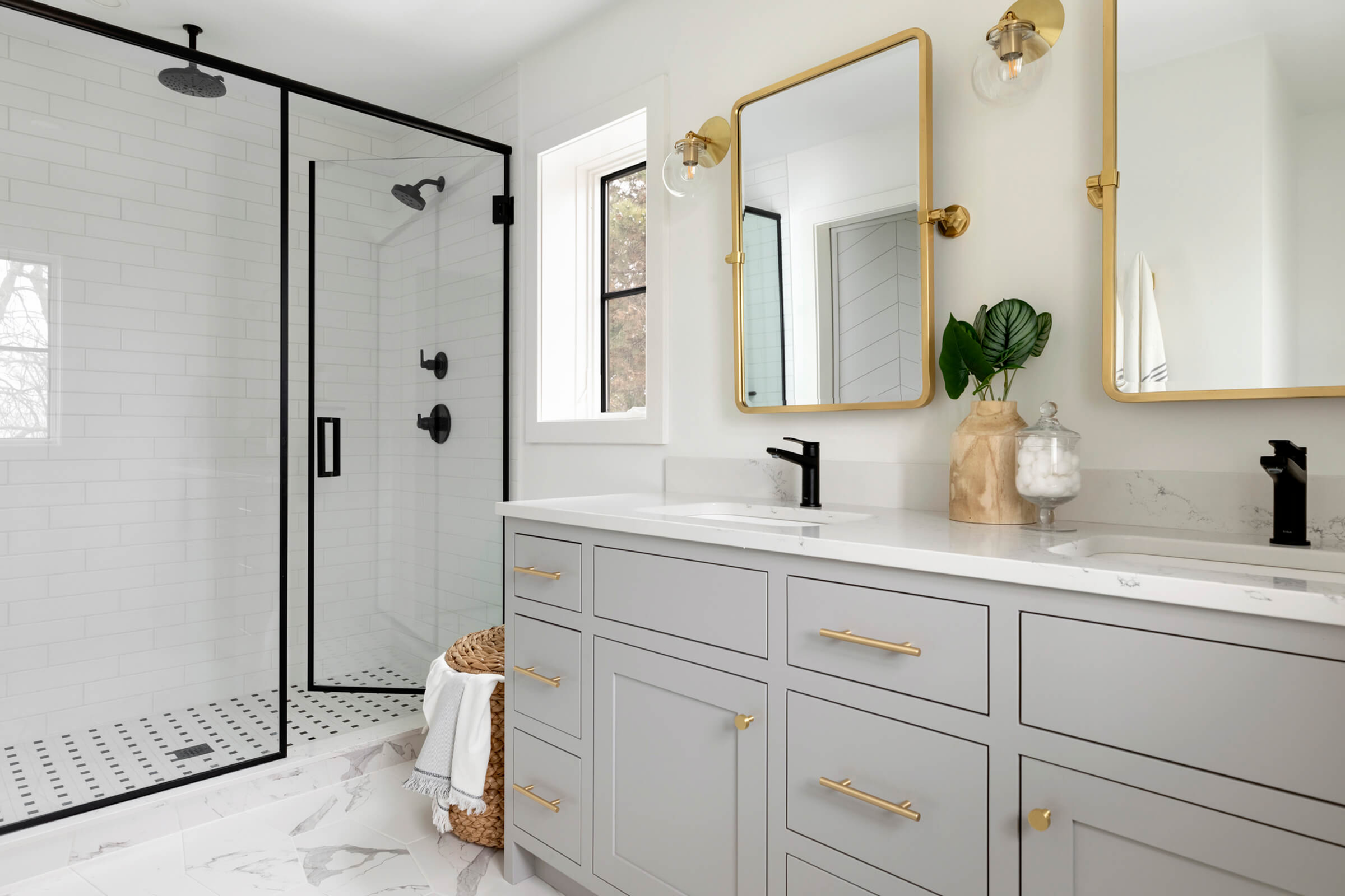 Before And After Master Suite Bedroom And Bathroom Black And Gold Bathroom Gold Bathroom Fixtures Bathroom Remodel Designs