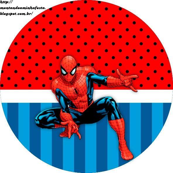 Montando minha festa: kit grátis para imprimir homem aranha | Clip ...