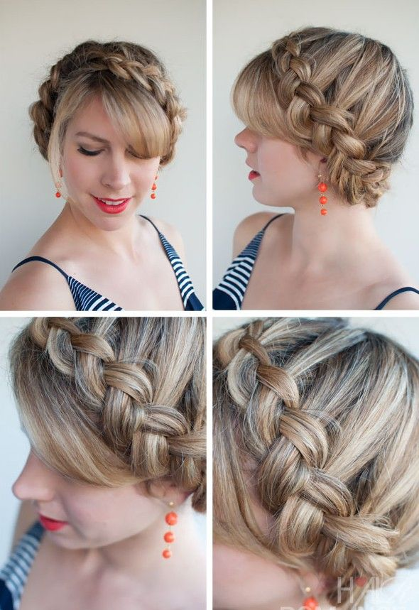 Popular Braided Hairstyles The Dutch Crown Braid With Images