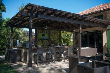 Outdoor Kitchen And Pergola Project In South Florida Traditional Patio Miami Luxapatio Pergola Outdoor Pergola Pergola Patio