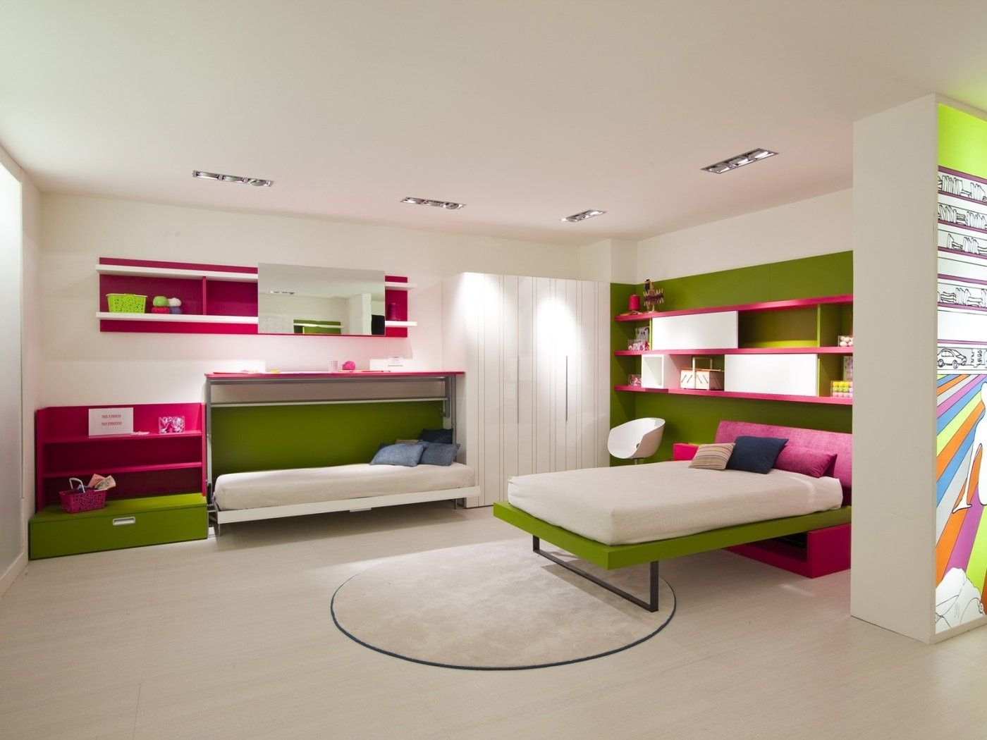 Remarkable Modern Colorful Teenage Girls Bedroom Designs With Red Hearth  Decorations And Cute Study Table Feat Pink Color Stand Light Floor Creative  Idea