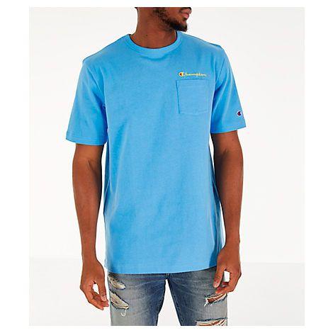 9ae4a6fe CHAMPION MEN'S CHAMPION HERITAGE POCKET T-SHIRT, BLUE. #champion #cloth