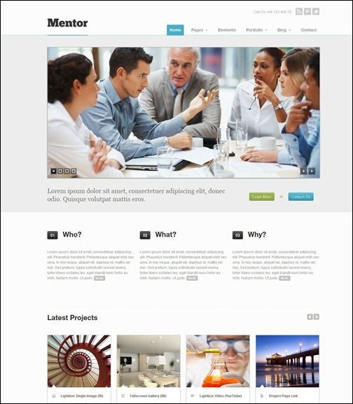 Mentor responsive business wordpress theme soukou site pinterest mentor a premium responsive business template wajeb