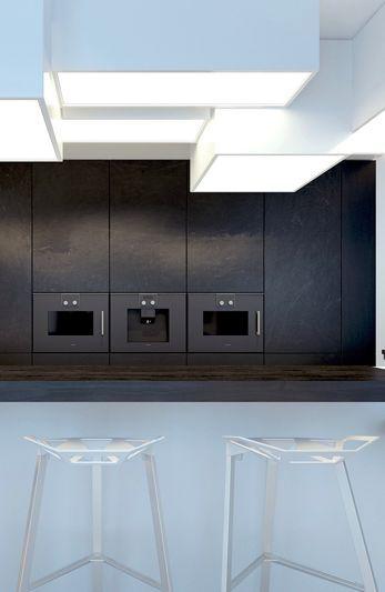 Küche dunkle akzente interior gardeninterior design