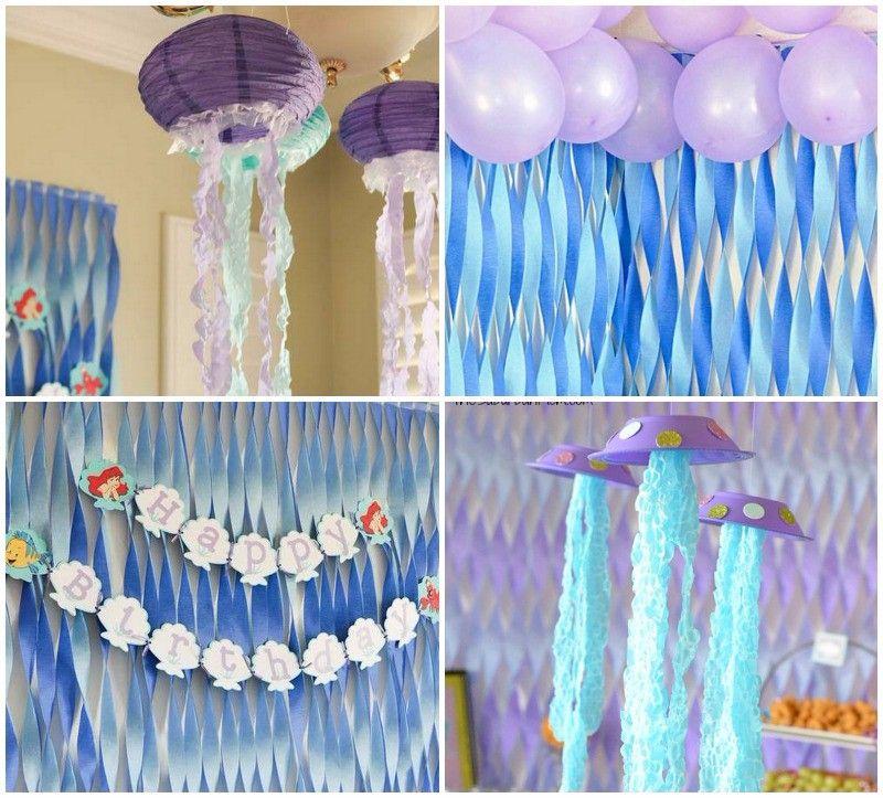 ideas para decorar cumpleanos de la sirenita ariel